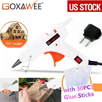 Goxawee Hot Glue Gun +30pcs Sticks Melt Electric Heating DIY Applicator Mini Kit