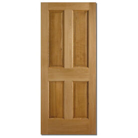 Colonial 4P Door Dowelled Oak 4 Panel Exterior / External Door 198 x 76 x 35mm Brand New
