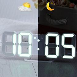 LED Wall Clock 3D Modern Design Digital Table Clock Alarm Nightlight For Home