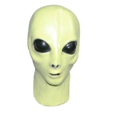 Alien Latex Mask (Glow in the Dark), Extra Terrestrial, Movie & Fancy Dress prop](Alien Movie Mask)
