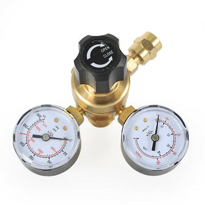 Brass Co2 Mig Tig Argon Gas Flow Meter Welding Weld Regulator Gauge Valve Cga580