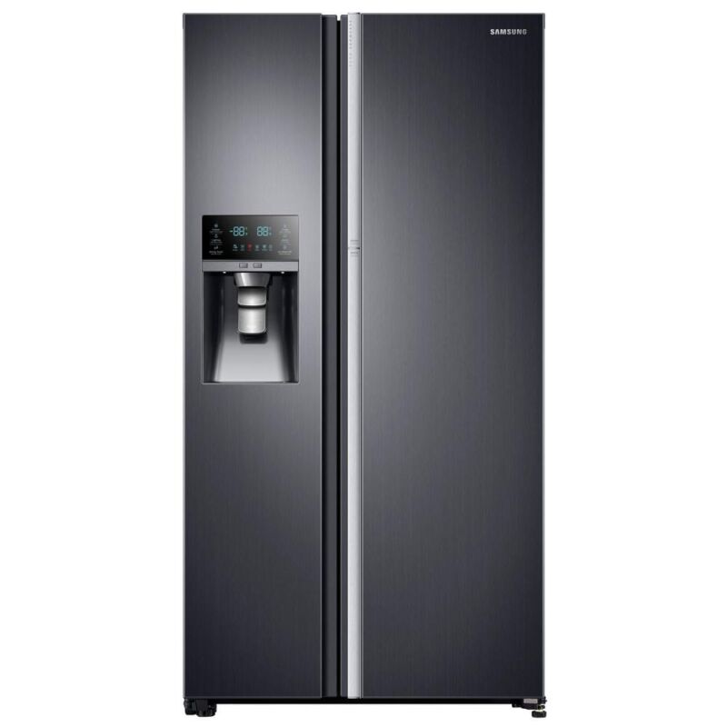 Samsung Showcase 21.5 Cu. Ft. Counter-Depth Side-by-Side Refrigerator with Thru-the-Door Ice and Water Stainless-Steel RH22H9010SR