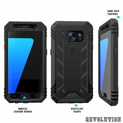 Case For Samsung Galaxy S7 POETIC?Revolution?Built-In Screen Protector Black