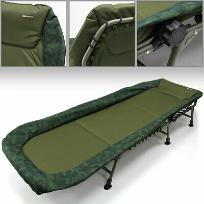 NGT ADVANCED Camo Specimen Carp Fishing Camping Reclining 6 Leg Bedchair Pillow