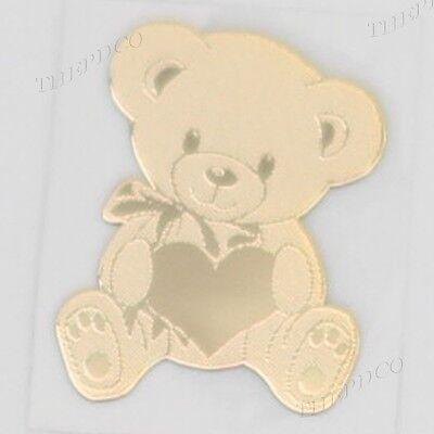 TPD 24K Gold Plated Anti Radiation Block Shield Cell Phone Sticker Cute Bear