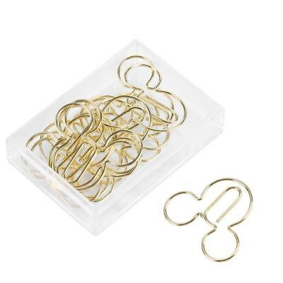 12pcs Gold Animal Shaped Paper Clips Bookmark Marking Clips Stationery Supplies
