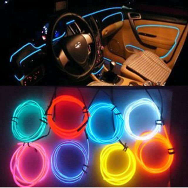 Car interior decor 12v red led lamp wire luminescent tube ambient car interior decor 12v red led lamp wire luminescent tube ambient light strip 1m aloadofball Gallery