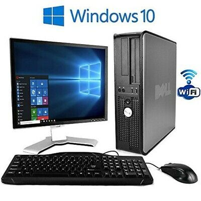 Computer Games - FULL SET PC COMPUTER DESKTOP TOWER & TFT WITH WINDOWS 10 & WIFI & 4GB 500GB