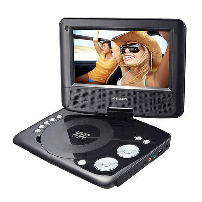 """Sylvania 7"""" Display Portable DVD Player with 180 Degree Swivel Screen & Speakers"""