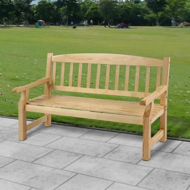 Garden Furniture - 5FT WOODEN 3 SEATER GARDEN BENCH SEAT FURNITURE NEW