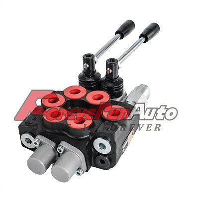 2 Spool 8 Gpm Mb21bb5c1 Double Acting Hydraulic Valve 9-7862
