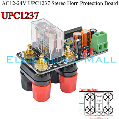 AC12-24V UPC1237 Stereo Horn Protection Board Ready-for-use Amplifier (24v Amplified Horn)