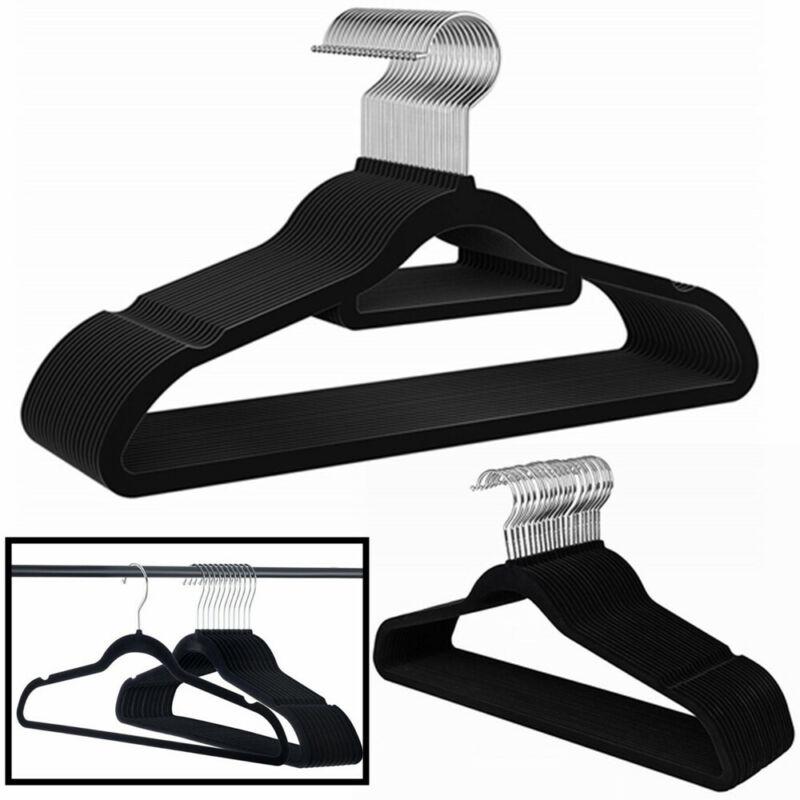 Velvet Hangers Clothes Heavy Duty Flocked Non Slip Hangers (10 50 100 Pack) Home