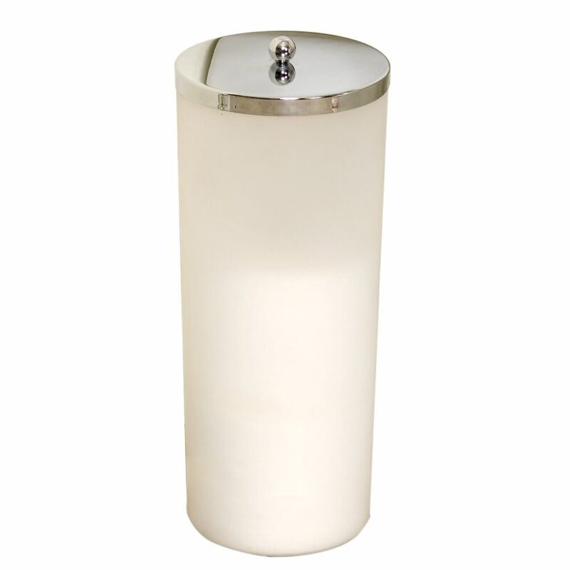 Zenna Home Frosted Plastic Toilet Paper Canister