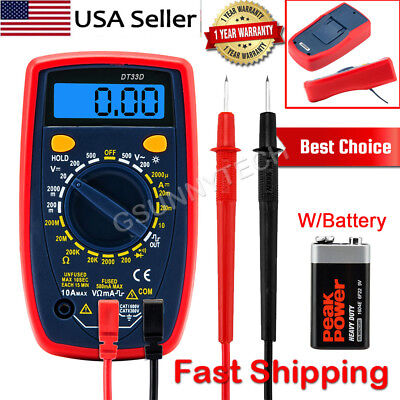 Lcd Back Light Digital Multimeter Multi Tester Voltmeter Ammeter Ohmmeter Ac Dc