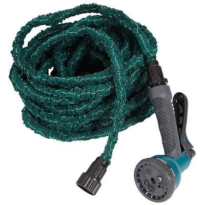 3X Stronger Deluxe 50 FT Expandable Flexible Garden Water Hose w/ Spray Nozzle