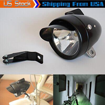 Retro Bicycle Bike 3 LED Front Light Headlight Vintage Flashlight Lamp Best GR