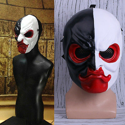 Payday 2 Mask Cosplay Scarface Mask Halloween Cosplay Prop Handmade Mask New - Scarface Halloween Mask