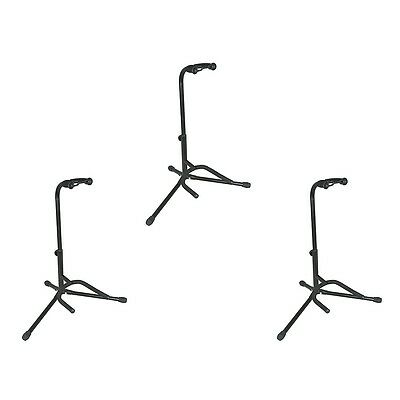 Musician's Gear Electric, Acoustic and Bass Guitar Stands (3-Pack)
