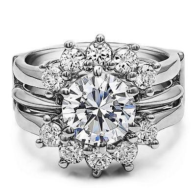 ring guard enhancer for princess cut solitaires ebay