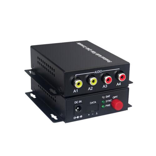 2 Audio Bidirection Over FC Fiber optic Extender for Broadcast system(Tx/Rx) Kit