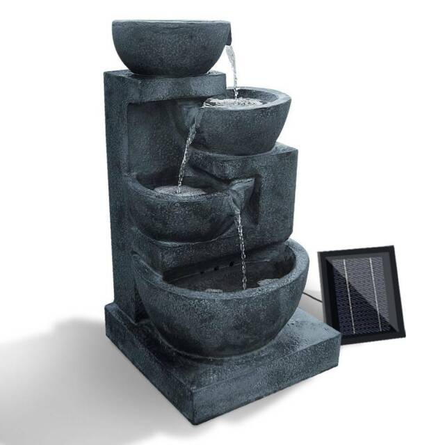 Brand New 4 Tier Solar Powered Water Fountain With Light