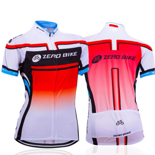 Women Cycling Bike Clothing Short Sleeve Bicycle Jerseys Spo