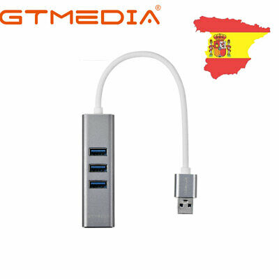 3 puertos 100Mbps USB 3.0 Gigabit Ethernet Lan RJ45 Adaptador red Hub a Mac PC