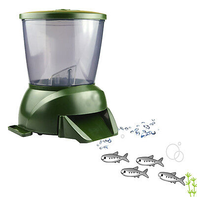 4.25L LCD Display Automatic Fish Feeder with Clock Display Olive Green