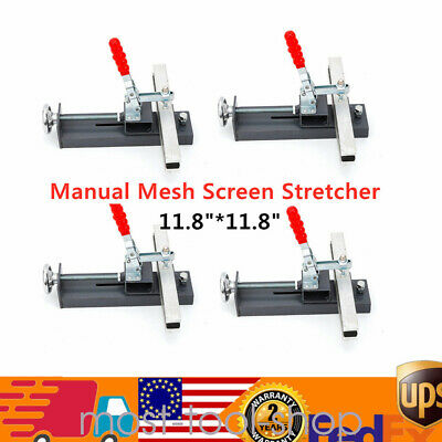 4 Pcs 30cm Manual Silk Screen Printing Mesh Screen Stretcher Stretching Clamp