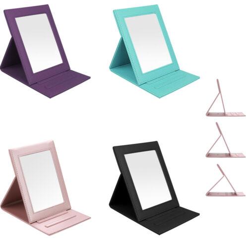 Portable Folding Vanity Makeup Stand Mirror PU Leather Foldi