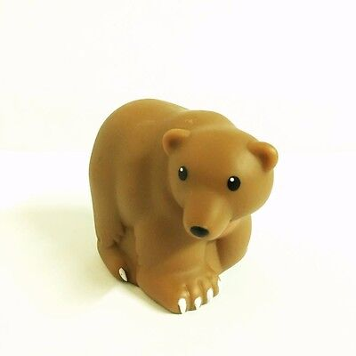 Fisher-Price Little People Zoo Talkers Bear figure Toy (no sound) QA324