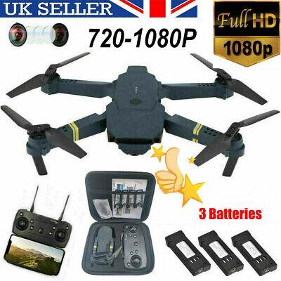 Drone X Pro WIFI FPV 1080P HD Camera 1-3 Batteries Foldable Selfie RC Quadcopter