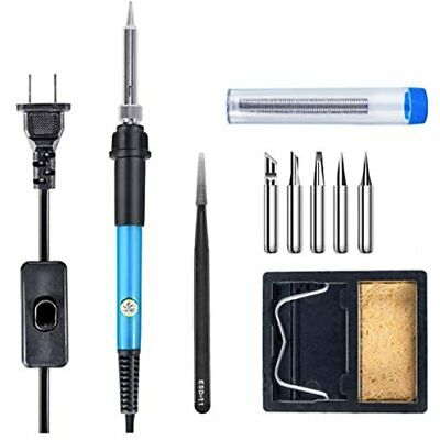 Soldering Iron Kit 60w Adjustable Temperature Welding Tool With On-off Switch