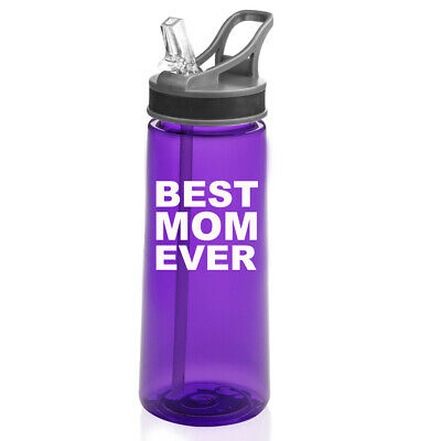 22 oz Sports Water Bottle With Straw Best Mom (Best Water Bottle With Straw)