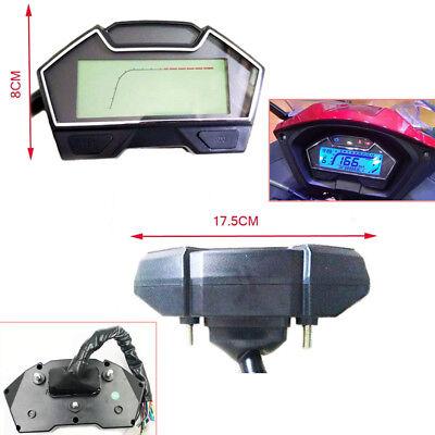 Universal Motorcycle RPM LCD Digital Odometer Speedometer Tachometer Gauge Kph