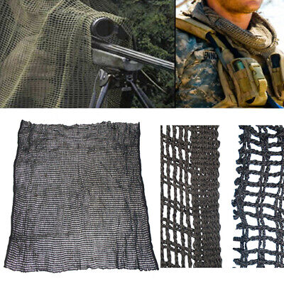 Light Weight BLACK Sniper Face Veil Hood Netting Head Face Cover Scarf44 x 35