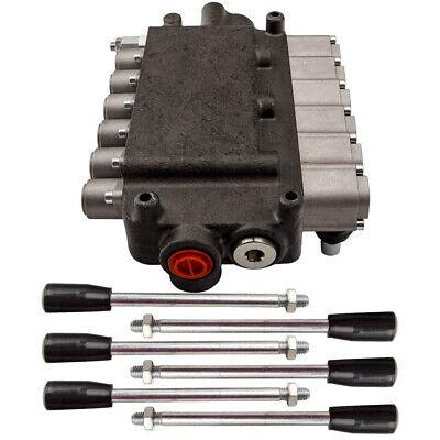6 Spool 2 Joysticks Hydraulic Directional Control Valve 21gpm 40lmin