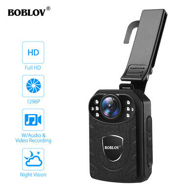 BOBLOV 1296P Body Wearable Camera Full HD With Audio For Police Security Guard