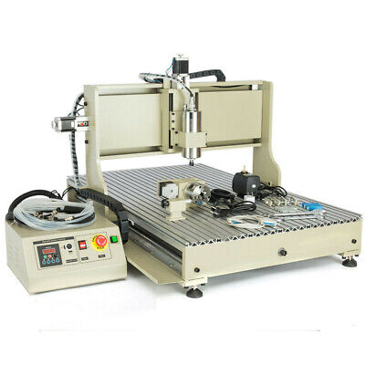 1.5kw 4 Axis 6090 Cnc Router Engraver Wood Drillmilling Machine Vfd Controller