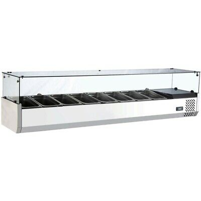 Marchia Mtr8 70 Refrigerated Countertop Salad Bar Topping Rail