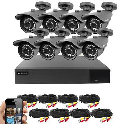 BV 16CH 4-in-1 HD DVR Security System (1TB HDD), 8pcs 1080P Outdoor