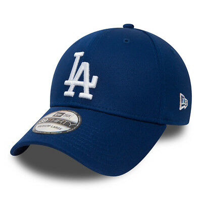 NEW ERA 39THIRTY BASEBALL CAP.MLB LA DODGERS LEAGUE ESSENTIAL BLUE STRETCH HAT