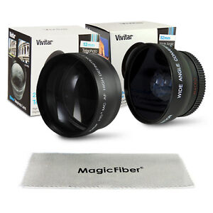 52MM 0.45X Wide Angle Lens + 2X Telephoto for Nikon D3000 D3100 D5000 D5100