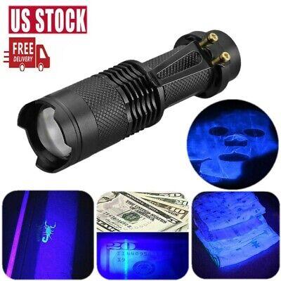 Mini High Powered 395nm 5W LED UV Lamp Black Light Ultra Violet Flashlight