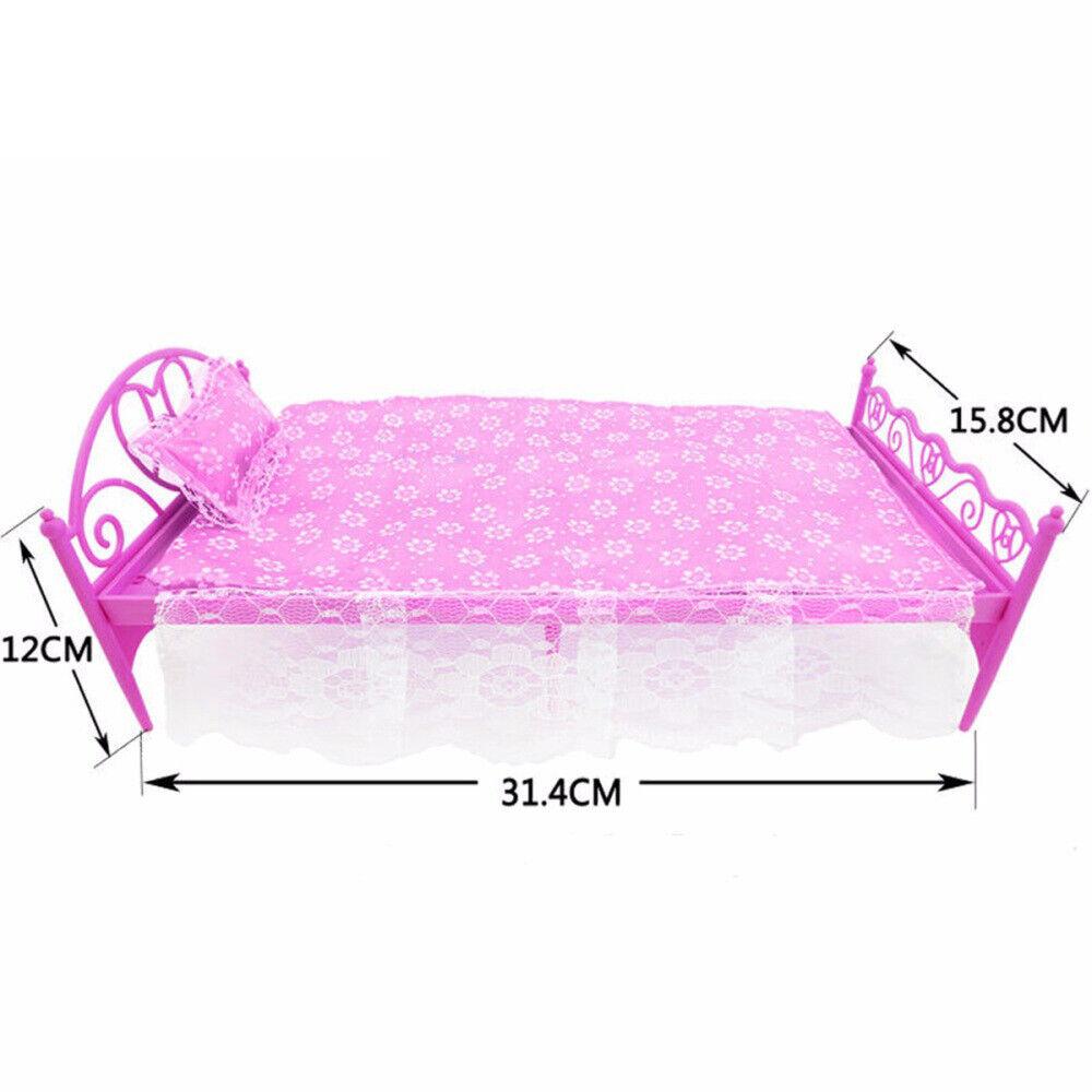 Princess Doll House Furniture Living Room Sofa Bed Dressing Table Hanger Gift