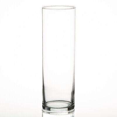 "Eastland Glass Cylinder Vases 10.5"" Set of 12 Perfect Centerpiece Floral Wedding"