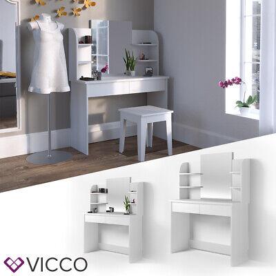 VICCO Schminktisch CHARLOTTE Weiß Frisiertisch Kommode Frisierkommode Spiegel