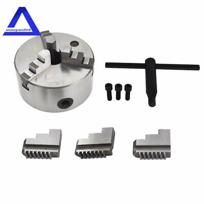 New 5 Lathe Chuck K11-130 130mm 3 Jaw Self Centering Cast Iron Cnc Machine