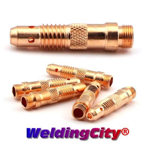 """WeldingCity® 5-pk TIG Welding Collet Body 10N28 (1/8"""") Torch 17/18/26  US Seller"""